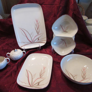 Dragon Flower Pattern 6 Pc Serving Set by Winfield California China