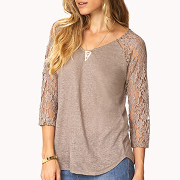 Essential Lace-Sleeve Tee