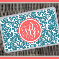 Damask Monogrammed Kindle Fire Snap On Case, Monogrammed Kindle Case, Personalized Kindle Fire Case, Kindle Fire