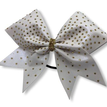 DaBlingBling in White with Gold Rhinestones