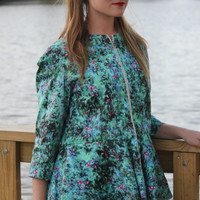 Lightweight Watercolor Floral Jacket