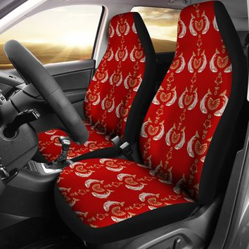 Fish Patterns On Red Print Car Seat Covers-Free Shipping