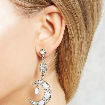 Moon & Star Drop Earrings