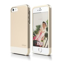 iPhone SE, elago Glide Case Limited-Edition for iPhone SE/5/5S - eco friendly Retail Packaging (Champagne Gold / Coconut)
