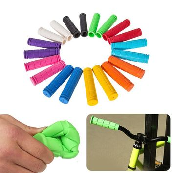 Rubber BMX MTB Bicycle Grips Cycling Mountain Bicycle Scooter Bike Handle Bar Rubber Soft End Grip