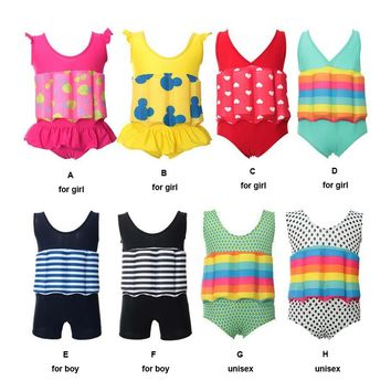 2017 New Child Swimming Trunks Shorts Children's Swimwear Kids Buoyancy Swimsuit Baby Boy Girl Swim Vest for Safe Drifting