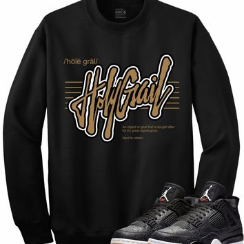 Jordan 4 Black Laser Gum Crewneck Sweater - DEFINITION RK