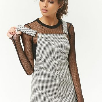 Houndstooth Overall Dress