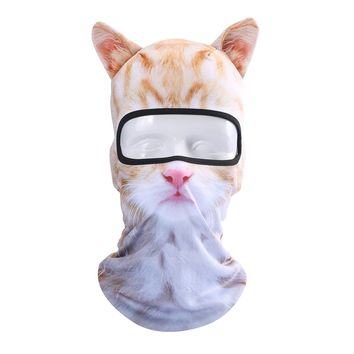 JIUSY 3D Cute Animal Ears Face Mask Windproof Breathable Balaclava for Skiing Cycling Motorcycle Snowboard Skateboard Hiking Fishing Halloween Party BB-G-10