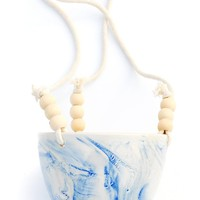 Marbled Cobalt Hanging Planter | LEIF