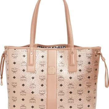 MCM Medium Liz Reversible Visetos Leather Shopper | Nordstrom