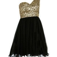 sirenlondon — Sequin My Noir Dress
