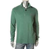 Polo Ralph Lauren Mens Knit 1/2 Zip Casual Shirt