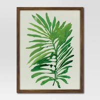 """Framed Watercolor Palm Leaf (16""""x20"""") - Green - Project 62™"""