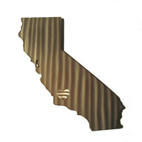 California Stainless Steel State Map Metal Wall Art Sculpture - State Sculpture - State Silhouette - State Sign