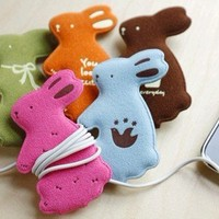 Rabbit Earphone Winder from Her-Collection