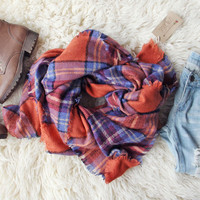 Blizzard Plaid Blanket Scarf