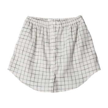 Graph Check Button-Down Skirt (White) | STYLENANDA