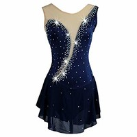NAKOKOU Customized Size One-Pieces Ice Skating Dresses for Women