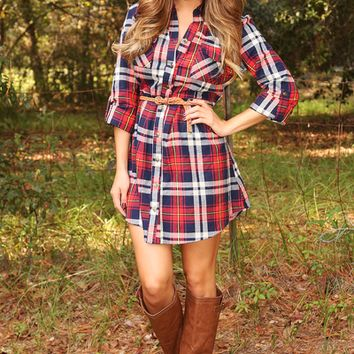 Princess In Plaid Dress: Red/Plaid