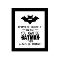 Batman Quote Canvas Painting  Art Print Poster, cheap modern paintings for living room wall vintage home decor Modular pictures