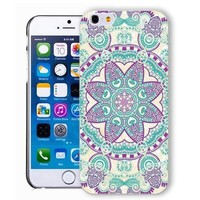 ChiChiC Iphone case, i phone 6 case, iphone6 case,iphone 6 case,iphone 6 4.7 cases, plastic cases back cover skin protector,geometric purple blue mandala