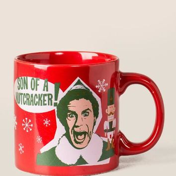 Red elf son of a nutcracker mug