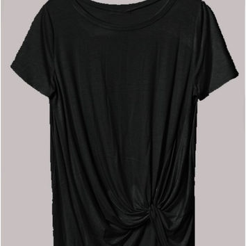 Black Get Knotty T Shirt