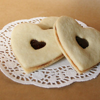 Linzer cookies strawberry raspberry Large hearts 5 pieces linzer kekse guezli