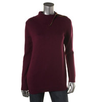 Charter Club Womens Knit Faux-Trim Pullover Sweater