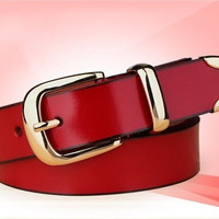 Genuine leather casual Belt for Women