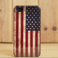 Vintage American Flag For Iphone 4/4s/5