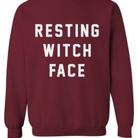 RESTING WITCH FACE - CREWNECK SWEATSHIRT