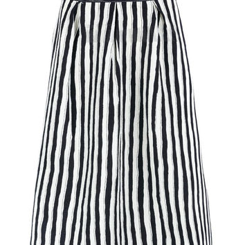 Midi Skirt In Stripe Print