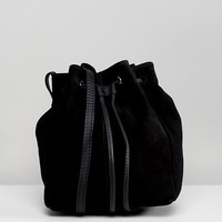 ASOS Suede Mini Minimal Duffle Bag at asos.com