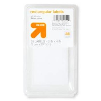 "Rectangular Labels 2"" x 4"" 35ct White - up & up™"