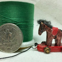 Miniature Horse On Wheels Pulltoy by bludusty on Etsy