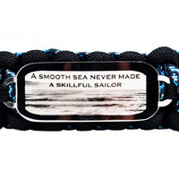 Inspirational 550 Paracord Bracelet with Large Rectangle Engraved Stainless Steel ID Tag