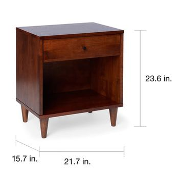 Vilas 1-drawer Nightstand | Overstock.com Shopping - The Best Deals on Nightstands