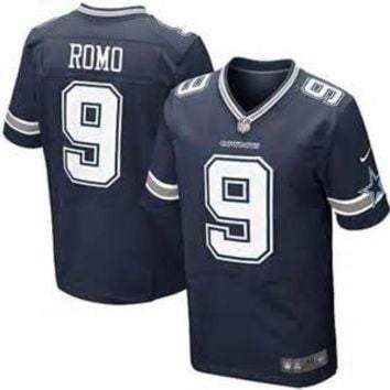 PEAPNO Tony Romo Nike Elite NFL football jersey (Blue)