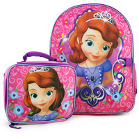 Sofia the First Backpack and Lunch Bag Set
