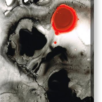 Clarity - Black And White Art Red Painting Acrylic Print