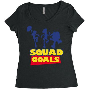 Toy Story Squad Goals Women's Triblend Scoop T-shirt