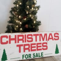12 x 30 Barn Wood Christmas Tree Wall decor, Holiday Sign,  Custom Sign, Personalized Sign