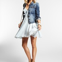 Brittney Denim Jacket in Ace-High Wash | GUESS.com