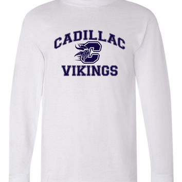 Cadillac Spiritwear - Vikings Long Sleeve Tee