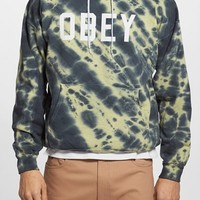 Men's Obey 'Collegiate' Graphic Tie Dye Oversize Hoodie