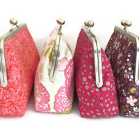 Clutch Purse Bridesmaid Bridal Party Gift Customize Your Cutie Girlie Clutches - You choose the fabrics