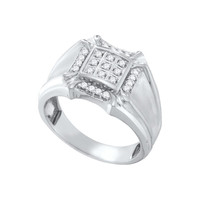 1-4CT-Diamond CLUSTER MENS RING