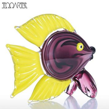 ONETOW Tooarts Yellow Fin Tropical Fish Glass Figurine